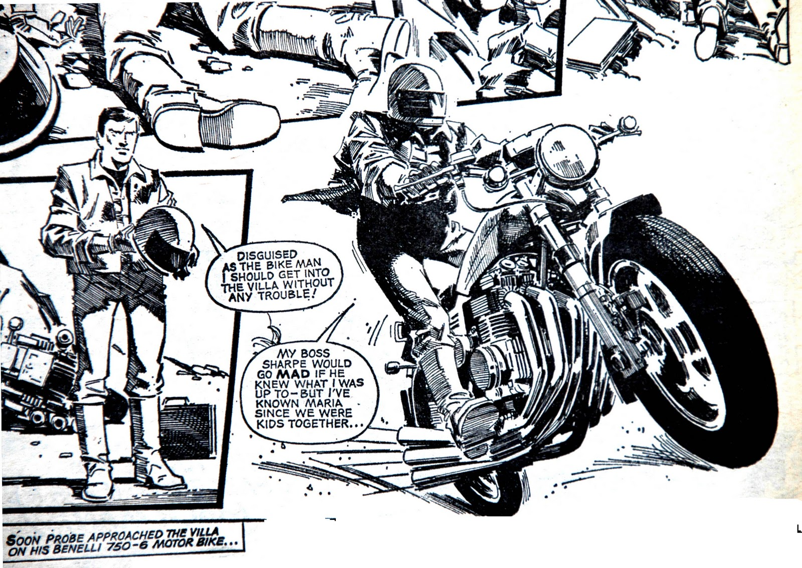 motorcycle comic pictures  Motorcycles in Comics – 2000AD | G E O R D I E B I K E R