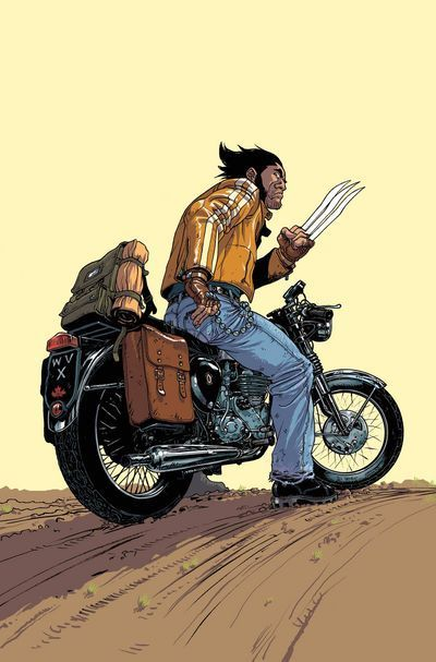 Comic Book Motorcycle Even The Comic-book Logan is