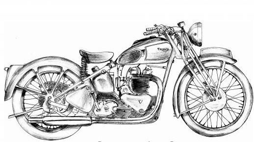 Pencil Drawings Pencil Drawings Motorcycles