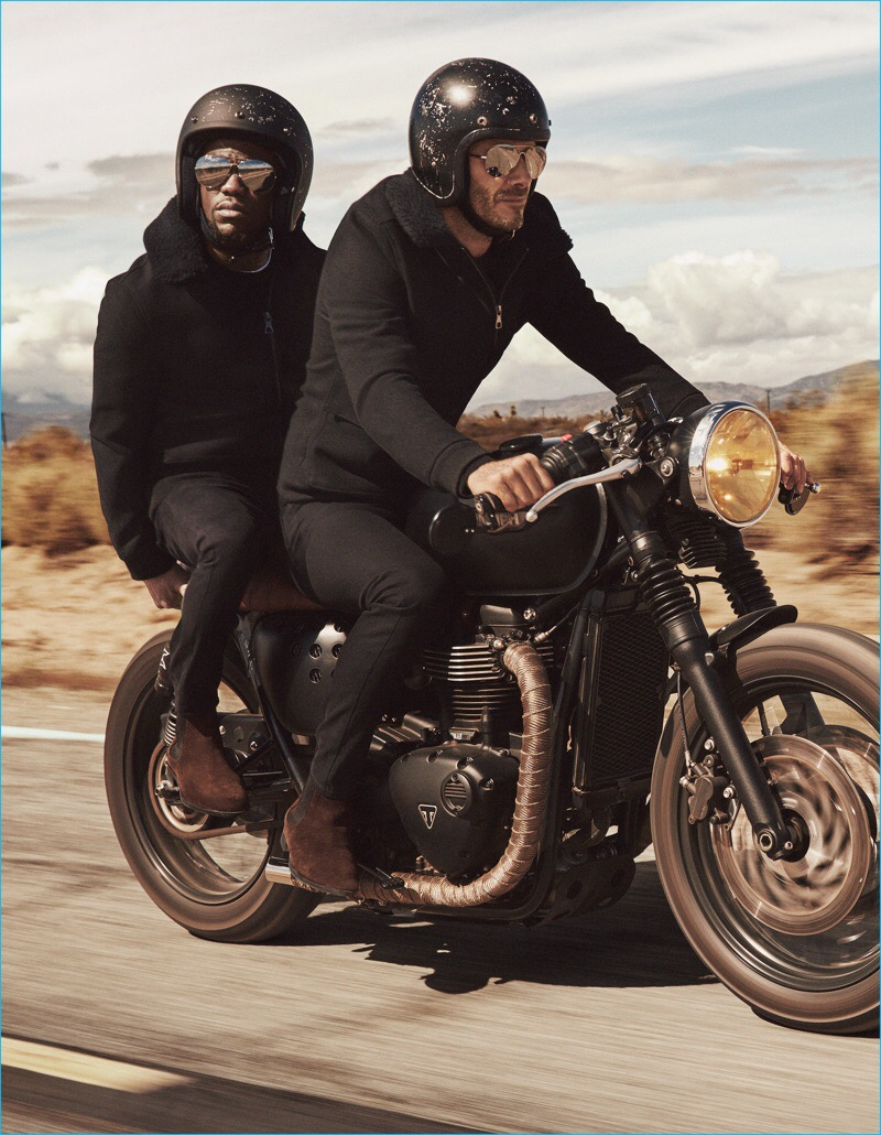 HM The Latest Advertising Campaign Of Clothing Company Hennes Mauritz Has Footballer David Beckham And Comedian Kevin Hart Playing Buddies In A